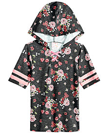 Belle Du Jour Big Girls Hooded Lace-Up Top