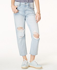 Juniors' Charlie High-Rise Straight-Leg Jeans