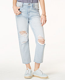 Rewash Juniors' Charlie High-Rise Straight-Leg Jeans