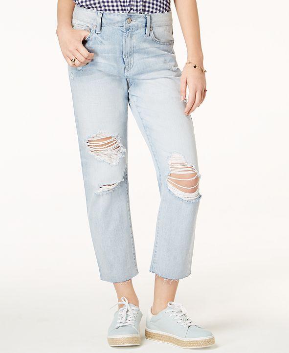 Rewash Juniors' Charlie High-Rise Straight-Leg Jeans