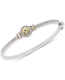 Givenchy Silver-Tone Pavé & Stone Bangle Bracelet, Created for Macy's