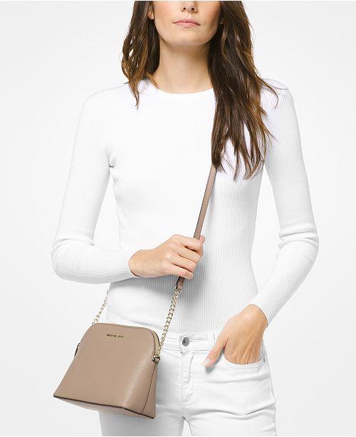 bb7e10e34350 Michael Kors Cindy Saffiano Leather Crossbody & Reviews - Handbags ...