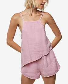 O'Neill Juniors' Vinnie Textured Asymmetrical Romper