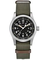 Hamilton Unisex Swiss Khaki Field Green Nato Strap Watch 38mm 9f6287cdfb1