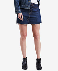 Levi's® Cotton Denim Mini Skirt