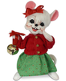 Annalee Jinglebell Girl Mouse Figurine