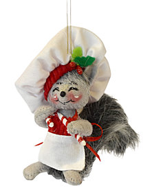 Annalee Candy Cane Chef Ornament