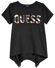 GUESS Big Girls Ruffle-Back Logo T-Shirt