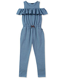 Tommy Hilfiger Big Girls Cold Shoulder Jumpsuit