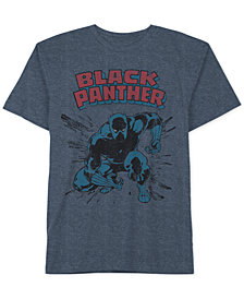 Marvel Little Boys Black Panther Graphic-Print T-Shirt