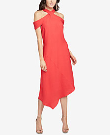 RACHEL Rachel Roy Capri Drape Cold-Shoulder Dress, Created for Macy's