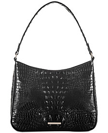Brahmin Noelle Melbourne Embossed Leather Shoulder Bag