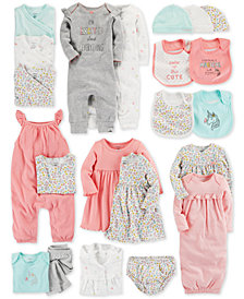 Carter's Baby Girls Floral-Print Separates