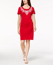 Karen Scott Printed Scoop-Neck T-Shirt Dress, Created for Macy's