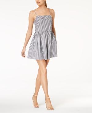 fe0ecff52835 French Connection Sardinia Striped Cotton Mini Dress In Black Summer White