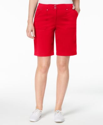 Image of Karen Scott Ribbed-Waist Utility Shorts, Created for Macy's
