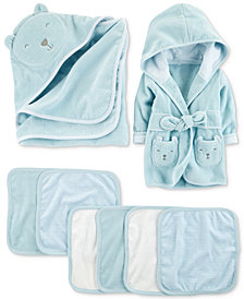 Carter's Baby Boys Bear Bath Time Layette Separates