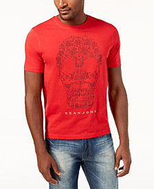 Sean John Men's Mini-Stud Skull T-Shirt