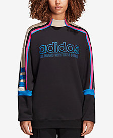 adidas Originals Cotton French Terry Colorblocked Sweatshirt