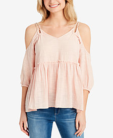 Jessica Simpson Elizabeth Braided Cold Shoulder Blouse