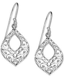 Giani Bernini Filigree Openwork Drop Earrings in Sterling Silver, Created for Macy's