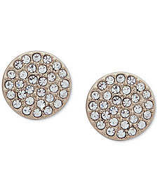 DKNY Pavé Disc Stud Earrings
