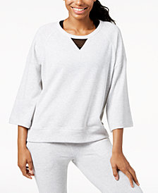 Calvin Klein Performance Mesh-Inset Wide-Sleeve Sweatshirt