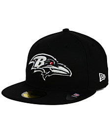 New Era Baltimore Ravens Black And White 59FIFTY Fitted Cap