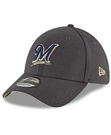 New Era Milwaukee Brewers Charcoal Classic 39THIRTY Cap