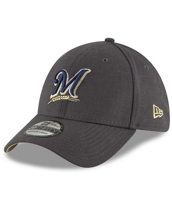 New Era Milwaukee Brewers Charcoal Classic 39THIRTY Cap