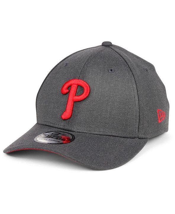 New Era Philadelphia Phillies Charcoal Classic 39THIRTY Cap