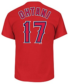 Majestic Shohei Ohtani Los Angeles Angels Official Player T-Shirt, Big Boys (8-20)