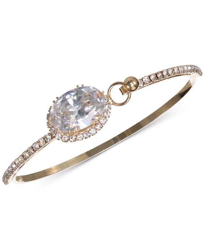 Nina Cubic Zirconia  Cuff Bracelet