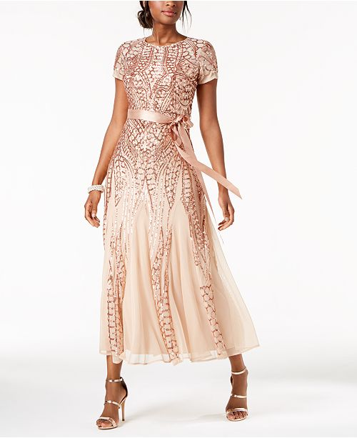 Petite M R amp; Gold Sequined Richards Gown Rose wa7t5Tq
