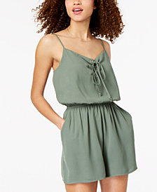 One Clothing Juniors' Lace-Up Romper