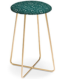 Deny Designs Holli Zollinger Mandala Tile Marine Counter Stool