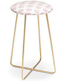 Deny Designs Lisa Argyropoulos Blushed Kiss Dots Counter Stool