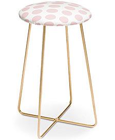 Deny Designs Lisa Argyropoulos Blushed Kiss Dots Counter Stool