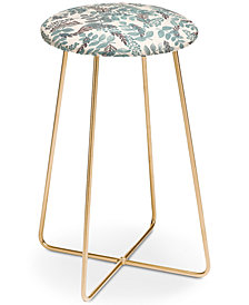Deny Designs Dash and Ash Blue Bell Counter Stool