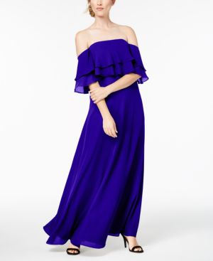 TIERED FLOUNCE GOWN