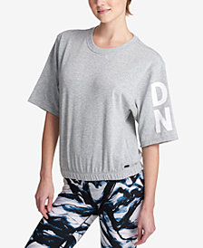 DKNY Sport Short-Sleeve Graphic Sweatshirt