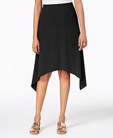 Alfani Pull-On Handkerchief-Hem Skirt, Created for Macy's