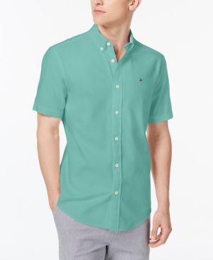 Tommy Hilfiger Men S Oxford Shirt In Spectra Green Modesens