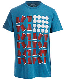Univibe Men's Beer Pong Graphic-Print T-Shirt