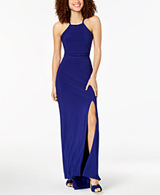 Morgan & Company Juniors' Strappy Sleeveless Gown