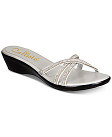 Callisto Shalome Embellished Slide Wedge Sandals, Created for Macy's