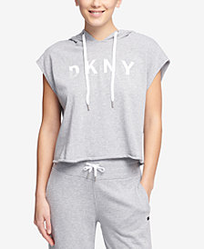 DKNY Sport Sleeveless Cropped Hoodie, Created for Macy's