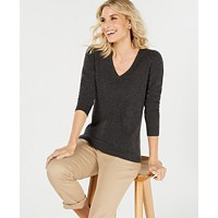 Macys deals on Charter Club Pure Cashmere V-neck Sweater