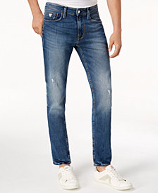 GUESS Men's Slim Tapered Fit Ripped Jeans