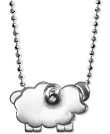 """Alex Woo Mini Sheep 16"""" Pendant Necklace in Sterling Silver"""